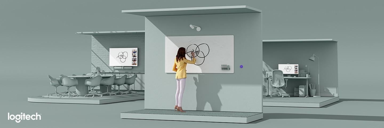 Logitech Scribe | Die Whiteboard-Kamera für Videobesprechungen