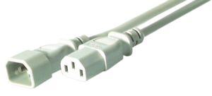 Power Cable C13 Fe - C14 Ma 1.8m Grey
