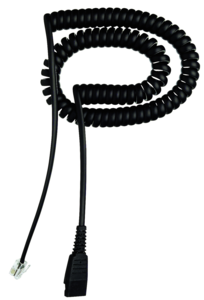 Headset Cable Cord QD-RJ10, Spiral