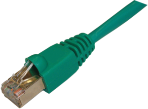 Patch Cable RJ45 SF/UTP Cat5e 1m Green