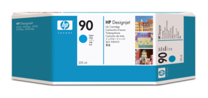 HP 90 Ink 225 ml Cyan