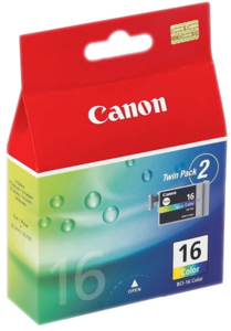 Canon BCI-16 Ink Tri-colour 2-Pack