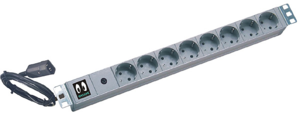8-socket Extension Lead, 10 A, Schuko