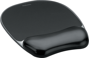 Mouse Pad w/ Gel Wrist Rest, Black