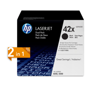 HP 42X Toner Black 2-Pack