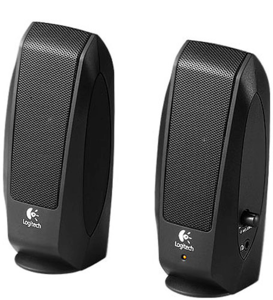 Logitech S-120 Speakers, Black