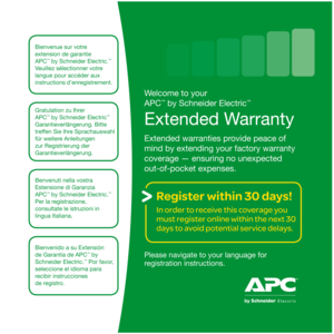 APC Warranty Extension SP07, +1 Year