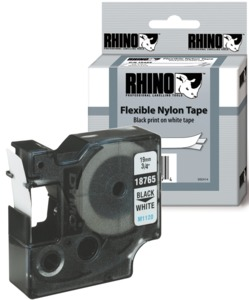 Dymo D1 Tape Nylon White 12mm