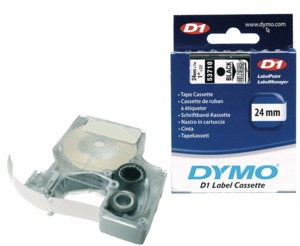 Dymo D1 Label Tape Green/Black 24mm