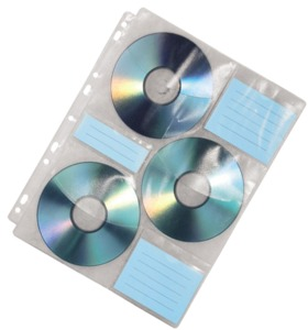 Hama Sleeves with Index for 60 CDs/DVDs