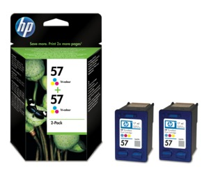 HP 57 Ink Tri-colour 2-Pack