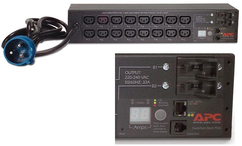Buy APC switched PDU, 1ph 32A IEC309 (AP7922B)
