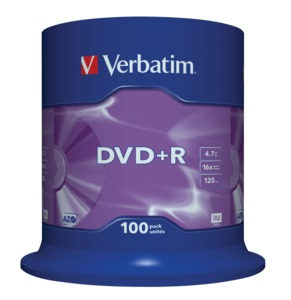 Verbatim DVD+R 4.7 GB 16x SP(100)