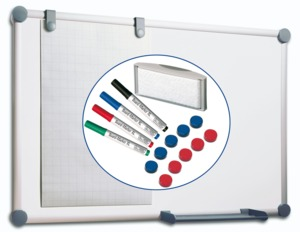 MAULpro Whiteboard 2000 Set 90x120 cm