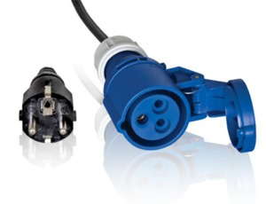 Adapter Cable 1m from IEC60309 to Schuko