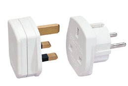 Lindy Travel Adapter UK - EURO white