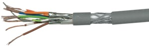 Kabel siec. Cat7 flex. S/STP 100m, szary