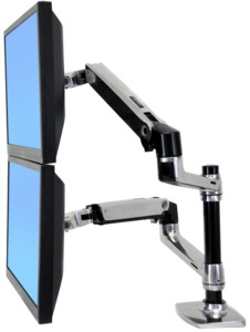 Ergotron LX Dual Display Mount for Desk