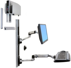 Ergotron LX Combo System for Wall Mount