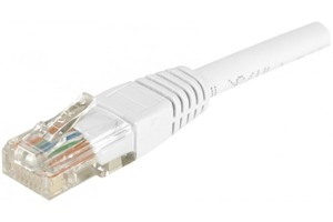 Câble patch RJ45 UTP Cat6 blanc 1,5m
