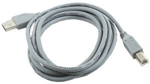 USB 2.0 Cable Ma(A)-Ma(B) 1.8m, Grey