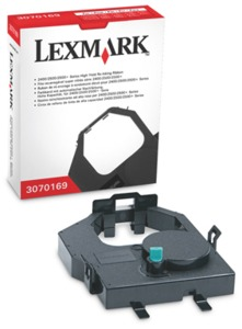 Lexmark 3070169 Ink Ribbon, Nylon, Black