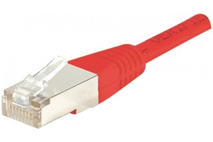Câble patch CUC RJ45 FTP Cat.6 1 m rouge