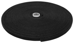 Velcro Cable Tie Roll 10m Black
