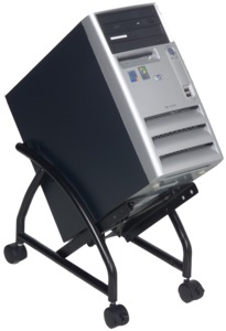 Dataflex Mobile PC Cart, Black