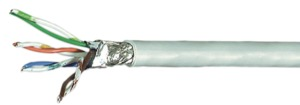 Data Cable Cat5e Strand. S/FTP 100m Grey
