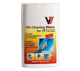V7 Screen Cleaner Cloths 100-Pack