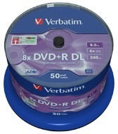 Verbatim DVD+R DL 8,5GB 8x SP(50)