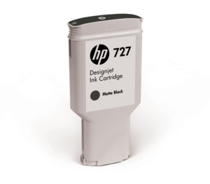 HP 727 Ink 300 ml Matt Black