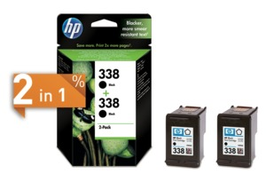 HP 338 Ink Black 2-Pack