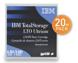 IBM LTO 6 Ultrium Tape 20 St