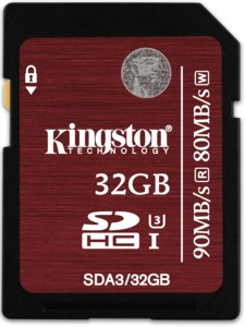 Kingston UHS-I 32 GB Class 10 SDHC Karte