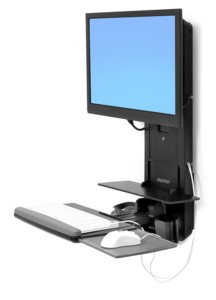 Ergotron StyleView Sit-Stand Vertical Bl