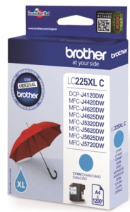 Brother LC-225XLC Ink Cyan