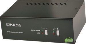LINDY KVM Switch Pro DVI Dual Head 2Port