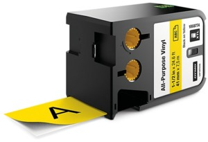 Dymo XTL Label Tape Vinyl Yellow 41mm