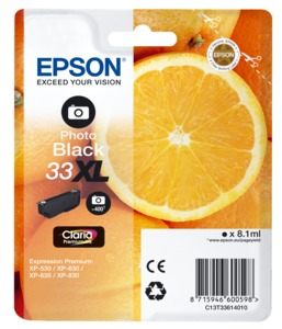 Epson 33XL Claria Photo Ink Black