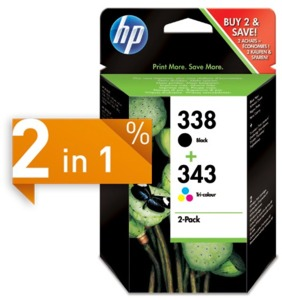 HP 338 + 343 Ink 2-Pack