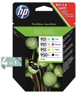 HP 950XL + 951XL Ink Multipack