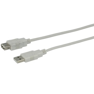 USB Extension Cable 2.0 A/m-A/f 1.8m
