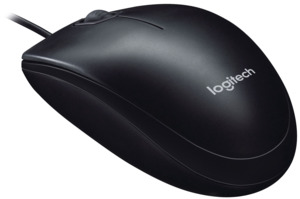 Logitech B100 Optical Mouse Black FB