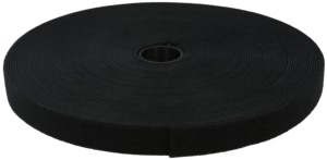 Velcro Cable Tie Roll 25m Black
