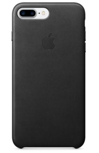 Funda de piel p. iPhone 7 Plus, negro
