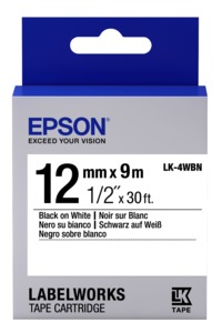 Epson LK-4WBN Label Tape 12mm