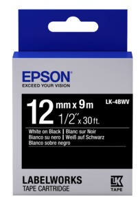 Epson LK-4BWV Label Tape 12mm