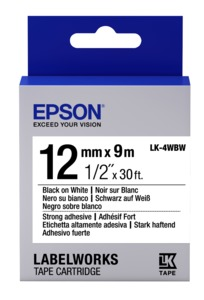 Epson LK-4WBW Label Tape 12mm